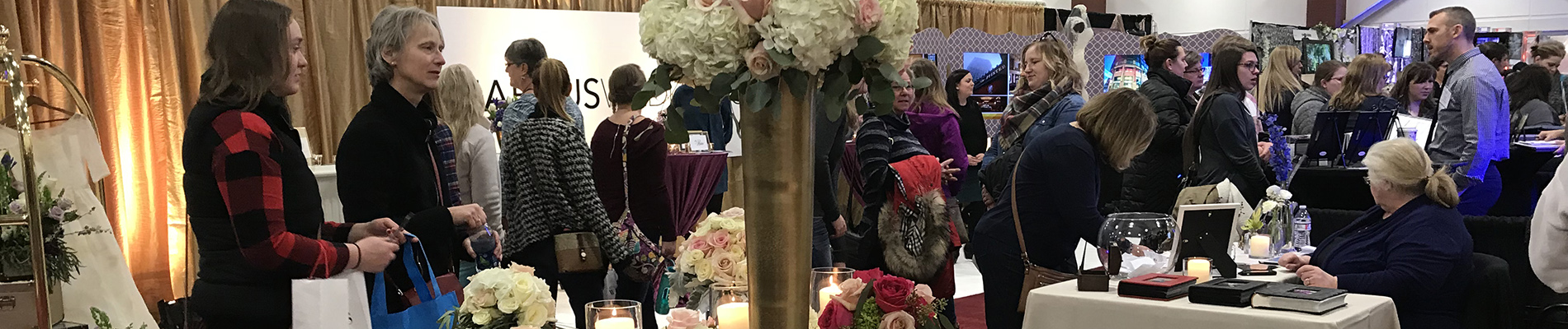 Wedding Show Booth | Table Display at a Bridal Expo